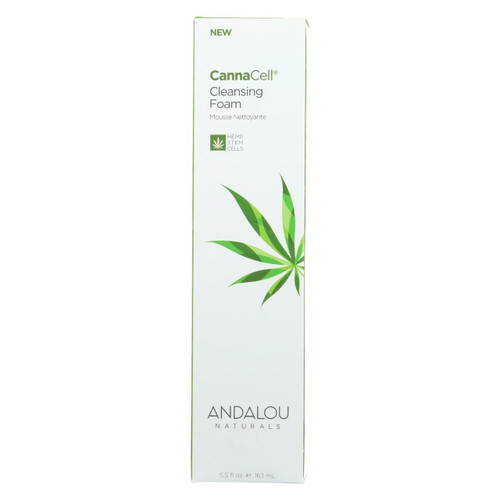 Andalou Naturals - Cannacell Cleansing Foam - 5.5 Fl Oz.