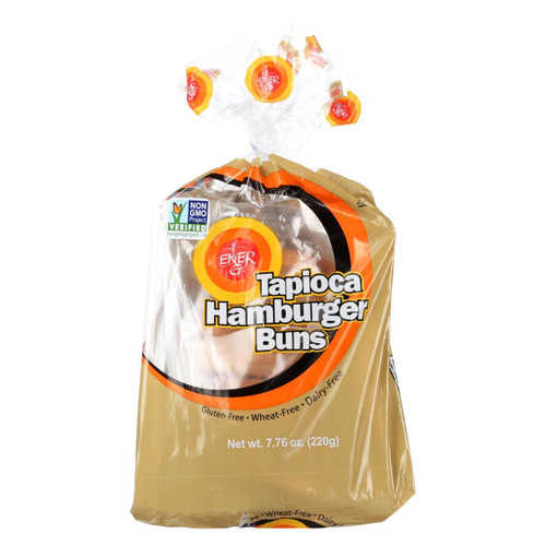 Ener-g Foods - Hamburger Buns - Tapioca - 7.76 Oz - Case Of 6