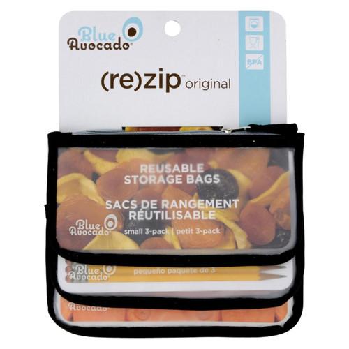 Blue Avocado - Snack Zip Bag - Black - 3 Pack