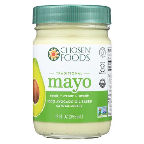 Chosen Foods Avocado Oil - Mayo - Case Of 6 - 12 Oz.