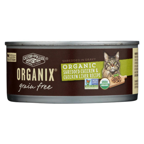Castor And Pollux Organic Cat Food - Chicken And Liver - Case Of 24 - 5.5 Oz.