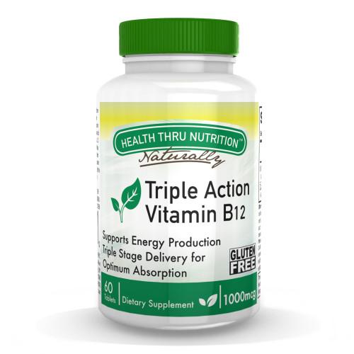 Health Thru Nutrition - Vitamin B12 1 000mcg - 60 Tablets
