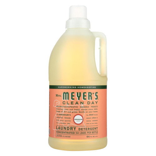 Mrs. Meyer's Clean Day - 2x Laundry Detergent - Geranium - Case Of 6 - 64 Oz