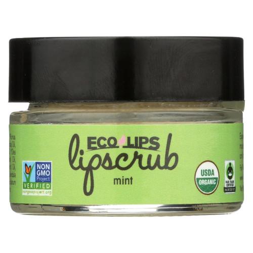 Ecolips Organic Lip Scrub - Mint - Case Of 6 - 0.5 Oz.
