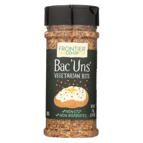 Frontier Herb Bac Uns - Bacon Less Bits - 2.47 Oz Bottle