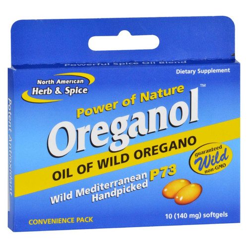 North American Herb And Spice Oreganol - P73 - Convenience Pack - 10 Softgels