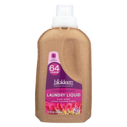 Biokleen Laundry Liquid - Citrus Essence - 32 Oz - Case Of 6