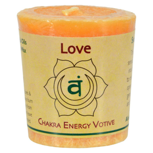 Aloha Bay - Chakra Votive Canlde - Love - Case Of 12 - 2 Oz