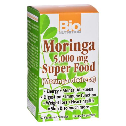 Bio Nutrition - Moringa 5,000 Mg Super Food - 60 Vegetable Capsules