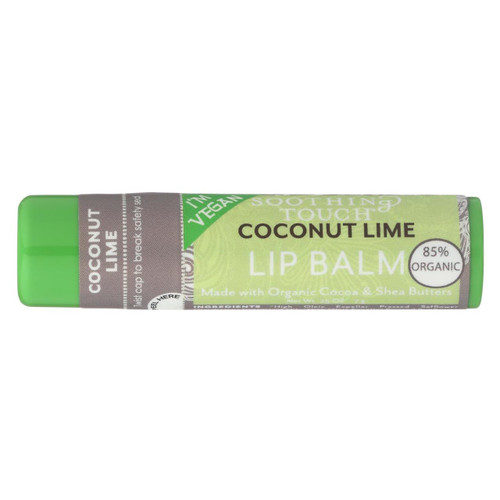 Soothing Touch Lip Balm - Organic Coconut Lime - Case Of 12 - .25 Oz - 0940080