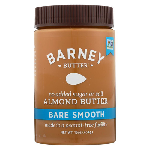 Barney Butter - Almond Butter - Bare Smooth - Case Of 6 - 16 Oz.