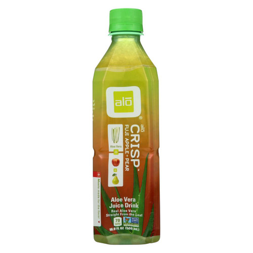 Alo Original Crisp Aloe Vera Juice Drink - Fuji Apple And Pear - Case Of 12 - 16.9 Fl Oz.