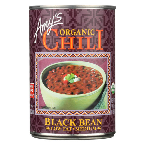 Amy's - Organic Medium Black Bean Chili - Case Of 12 - 14.7 Oz