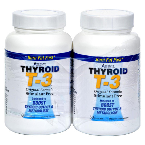 Absolute Nutrition - Thyroid T-3 - 60 Capsules Each / Pack Of 2