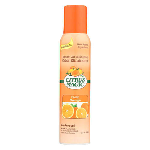 Citrus Magic Natural Odor Eliminating Air Freshener - Fresh Orange - Case Of 6 - 3.5 Oz
