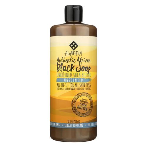 Alaffia - African Black Soap - Unscented - 32 Fl Oz.