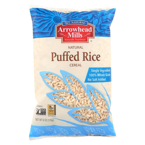 Arrowhead Mills - All Natural Puffed Rice Cereal - Case Of 12 - 6 Oz.