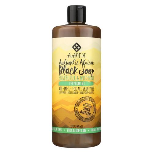 Alaffia - African Black Soap - Peppermint - 32 Fl Oz.