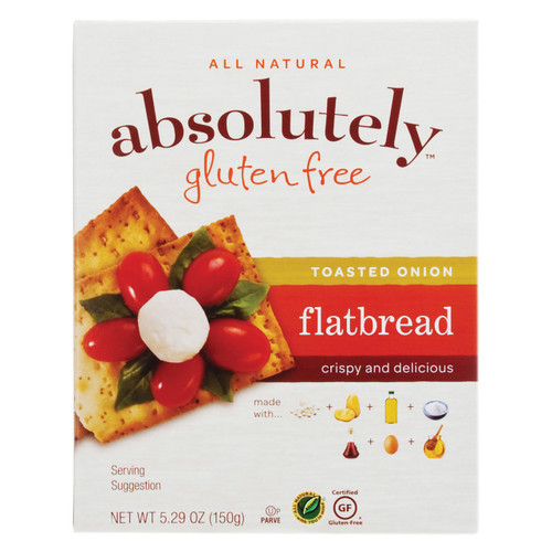 Absolutely Gluten Free - Flatbread - Toasted Onion - Case Of 12 - 5.29 Oz.