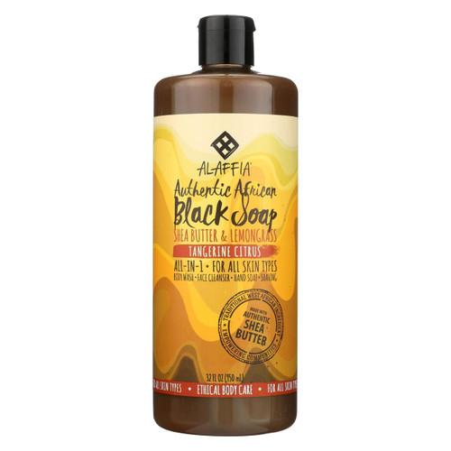 Alaffia - African Black Soap - Tangerine Citrus - 32 Fl Oz.