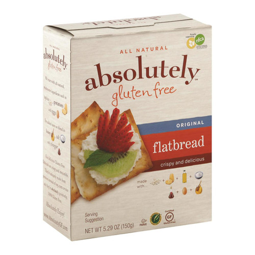 Absolutely Gluten Free - Flatbread - Original - Case Of 12 - 5.29 Oz.