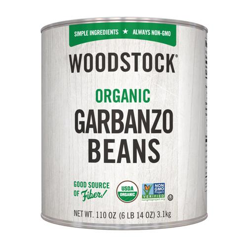 Woodstock Beans - Organic - Garbanzo - Case Of 6 - 110 Oz