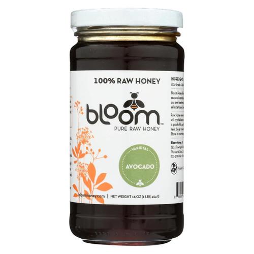 Bloom Honey - Honey - Avocado - Case Of 6 - 16 Oz.