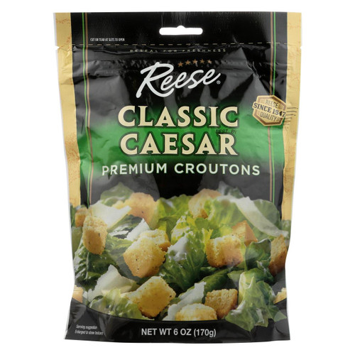 Reese Croutons Caesar Salad - Case Of 12 - 6 Oz.