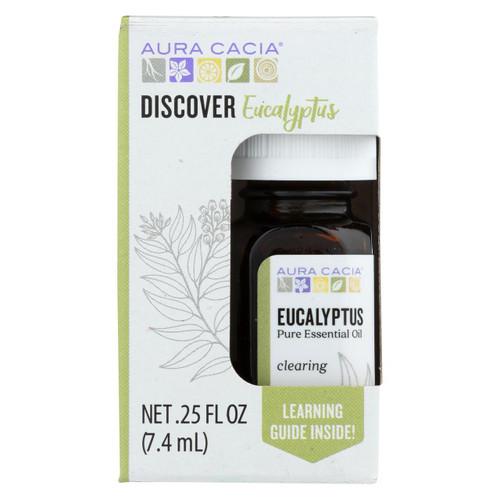 Aura Cacia - Discover Essential Oil - Eucalyptus - Case Of 3-.25 Fl Oz.