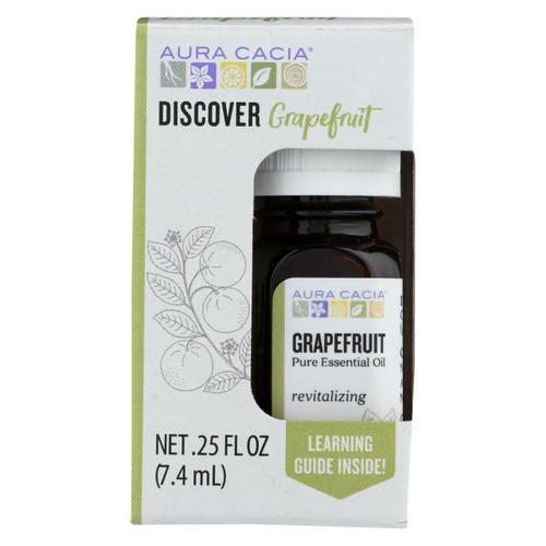 Aura Cacia - Discover Essential Oil - Grapefruit - Case Of 3-.25 Fl Oz.