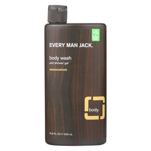 Every Man Jack Body Wash Sandalwood - Case Of 16.9 - 16.9 Fl Oz.