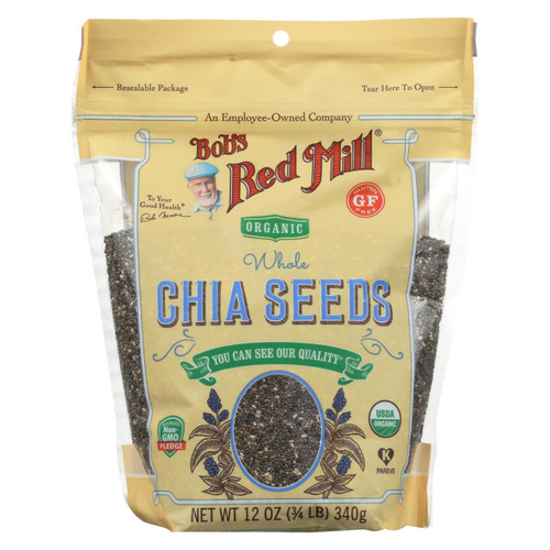 Bob's Red Mill - Organic Seeds - Chia - Case Of 6 - 12 Oz