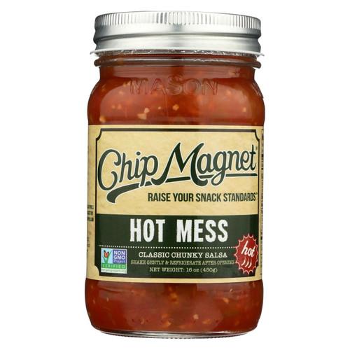 Chip Magnet Salsa Sauce Appeal - Salsa - Hot Mess - Case Of 6 - 16 Oz.