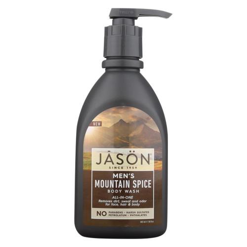 Jason Natural Products Men's Body Wash - Mountain Spice - 30 Fl Oz