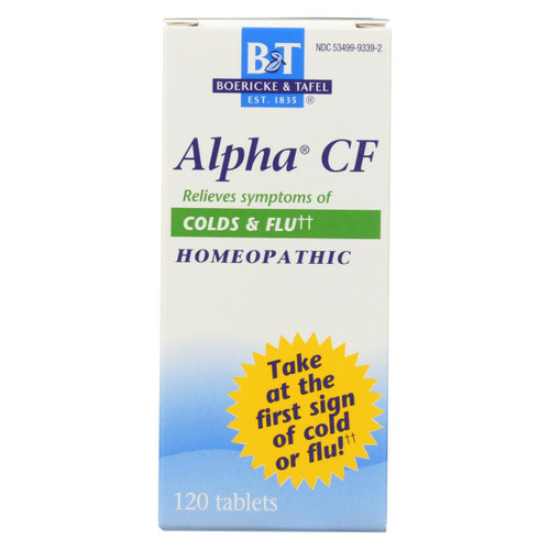 Boericke And Tafel - Alpha Cf - 120 Tablets
