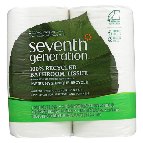 Seventh Generation Bathroom Tissue - Case Of 12 - 300 Count