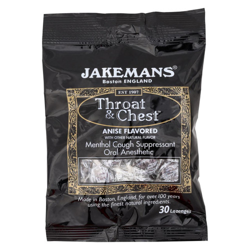 Jakemans Throat And Chest Lozenges - Licorice Menthol - Case Of 12 - 30 Pack - 0964353