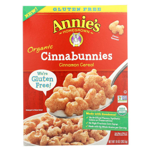 Annie's Homegrown Cereal Cinnabunnies - Case Of 10 - 10 Oz