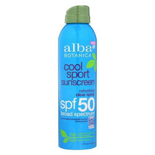 Alba Botanica - Sunscreen - Cool Sport - Spf 50 - 6 Fl Oz