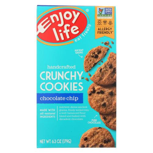 Enjoy Life - Cookie - Crunchy - Chocolate Chip - Gluten Free - 6.3 Oz - Case Of 6