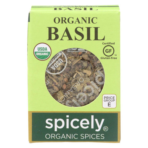 Spicely Organics - Organic Basil - Case Of 6 - 0.1 Oz.