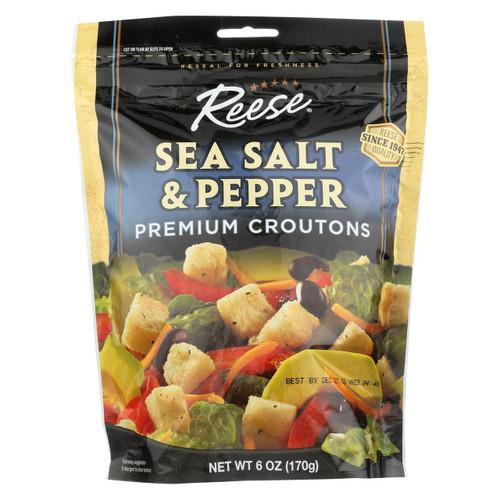 Reese Crouton - Sea Salt & Black Pepper - Case Of 12 - 6 Oz