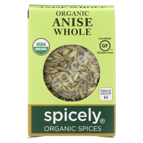 Spicely Organics - Organic Anise Whole - Case Of 6 - 0.3 Oz.