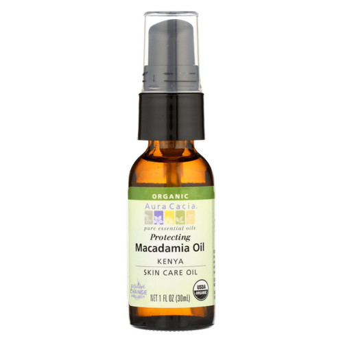 Aura Cacia Macadamia Skin Care Oil Certified Organic - 1 Fl Oz