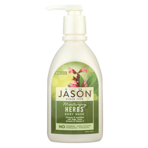 Jason Pure Natural Body Wash Moisturizing Herbs - 30 Fl Oz