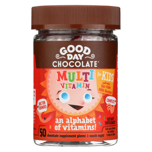 Good Day Chocolate - Multivitamin Supplement For Kids - 50 Count