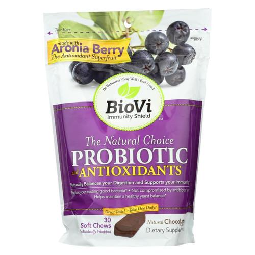 Biovi Probiotic - Antioxidant Blend - Natural Chocolate - 30 Soft Chews