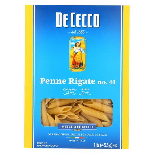 De Cecco Pasta Pasta - Penne Rigate - Case Of 12 - 16 Oz