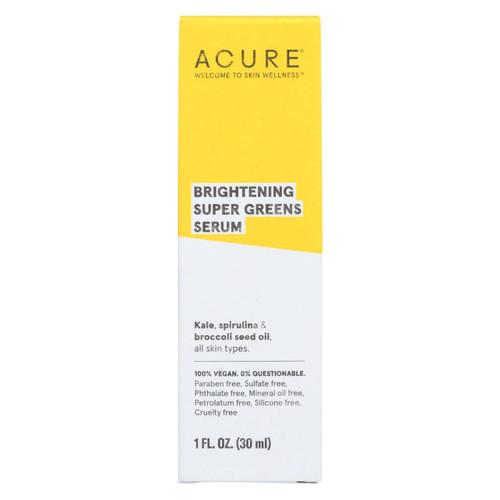 Acure - Serum - Brightening Super Greens - 1 Fl Oz.