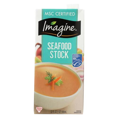 Imagine Foods Seafood Stock - Case Of 12 - 32 Fl Oz.